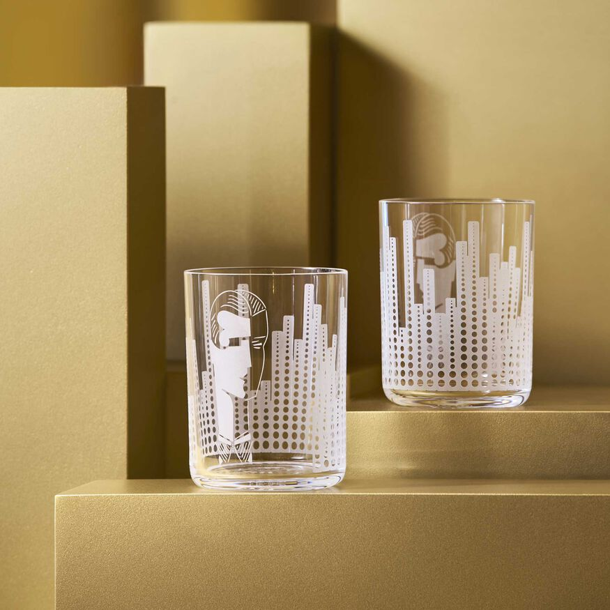 VERRES DE LÉGENDE NEW YORK 1934,  - 2