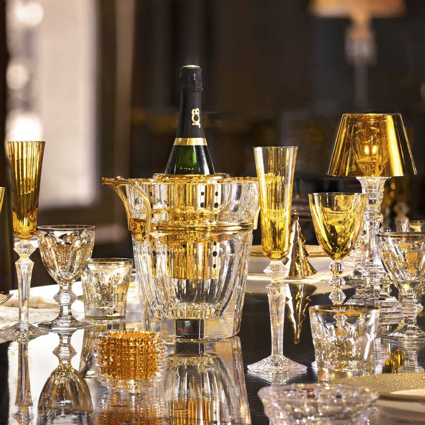 HARCOURT CHAMPAGNE COOLER  Clear & gold Image - 3
