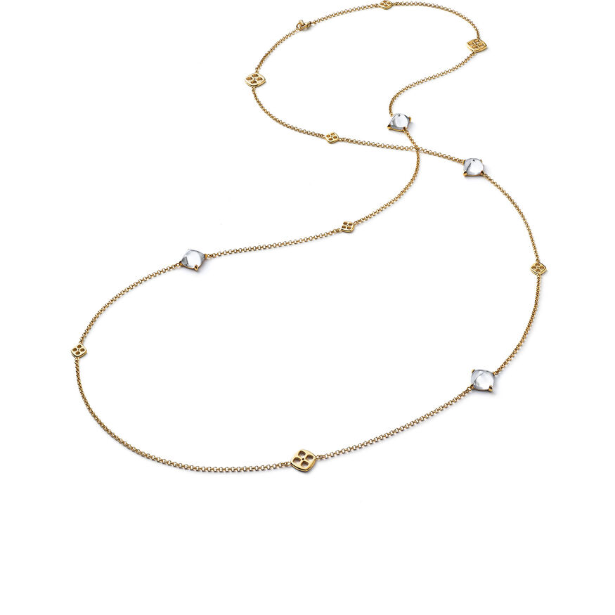 MINI MÉDICIS LONG NECKLACE, Clear