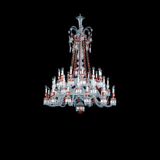 ZÉNITH CHANDELIER 36 TO 84 LIGHTS  Clear & red Image