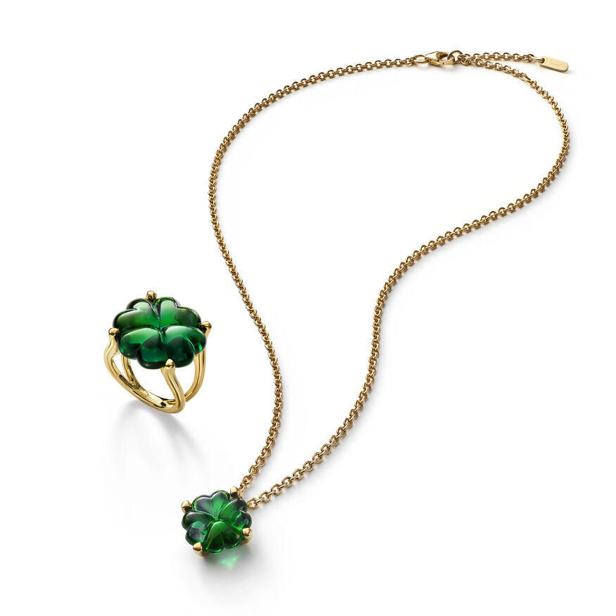 TRÈFLE NECKLACE, Green - 3