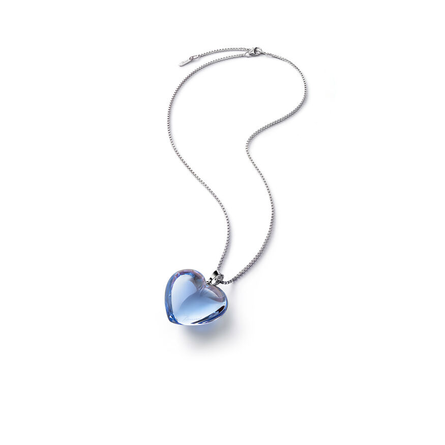 ROMANCE NECKLACE  Light blue mirror