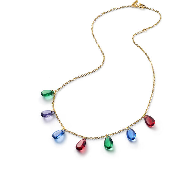 CRYSTAL DROPS OF COLOUR BACCARAT PAR MARIE-HÉLÈNE DE TAILLAC NECKLACE, Gold
