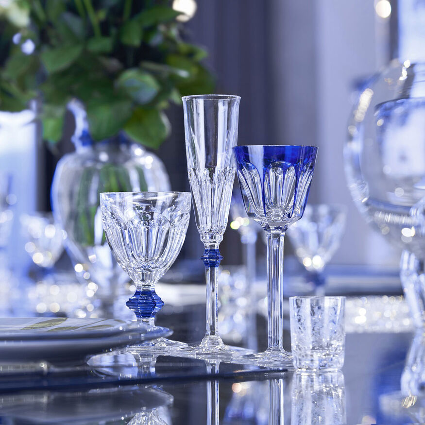 HARCOURT 1841 GLASS, Clear & blue - 4