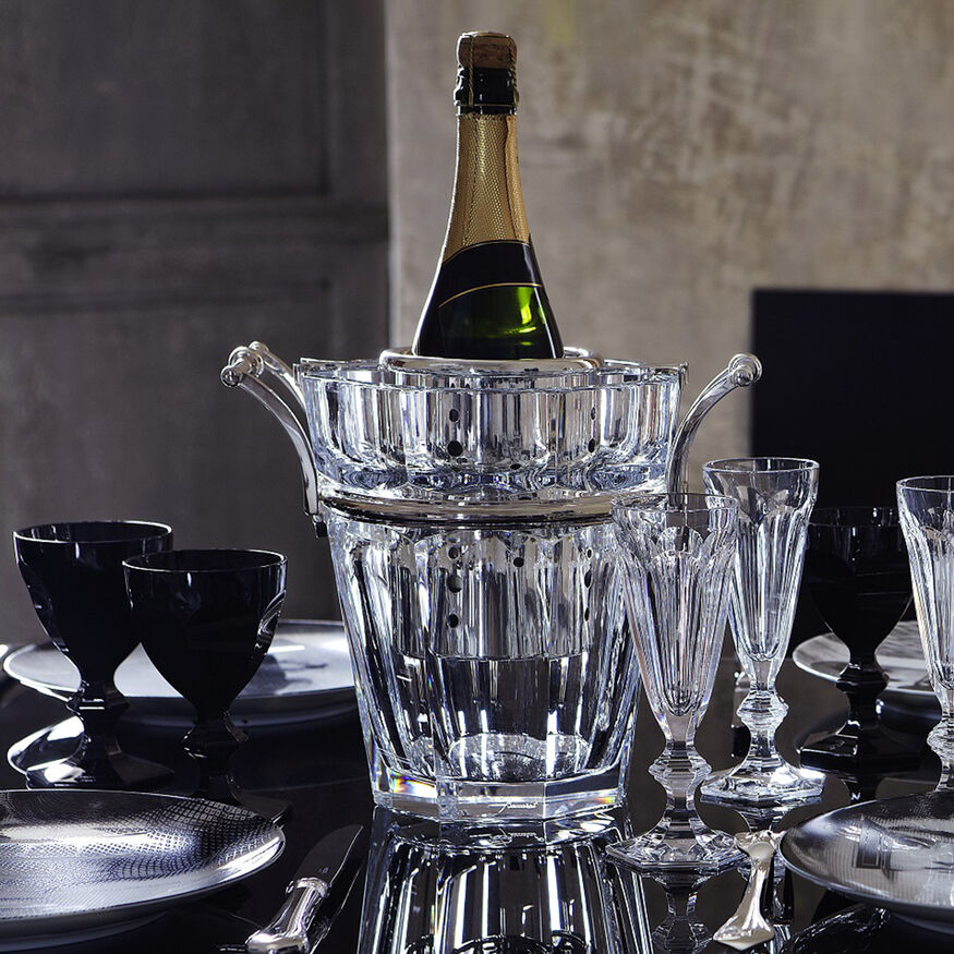 HARCOURT CHAMPAGNE COOLER, Clear & silver - 2
