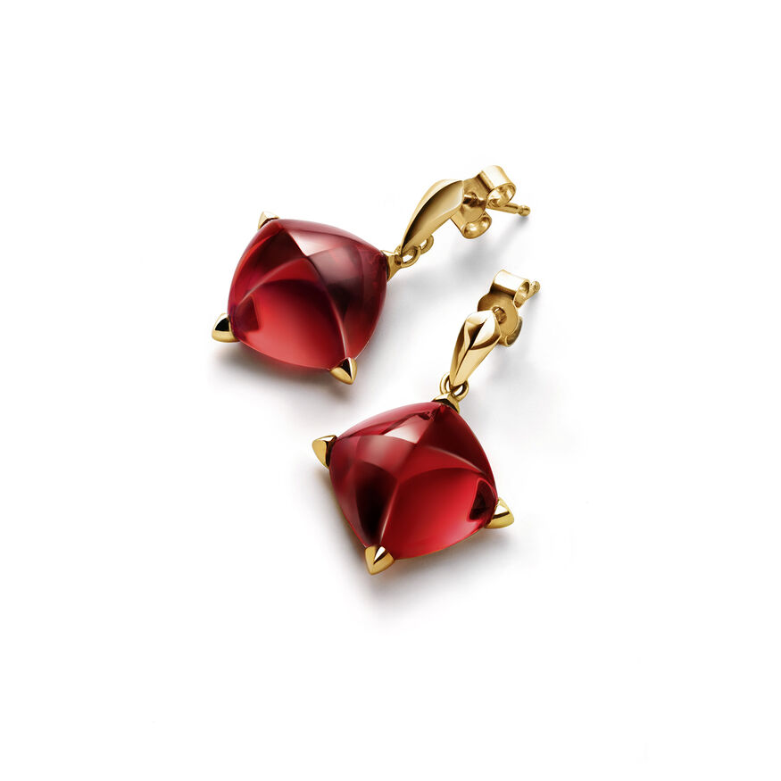 MÉDICIS EARRINGS, Red mirror