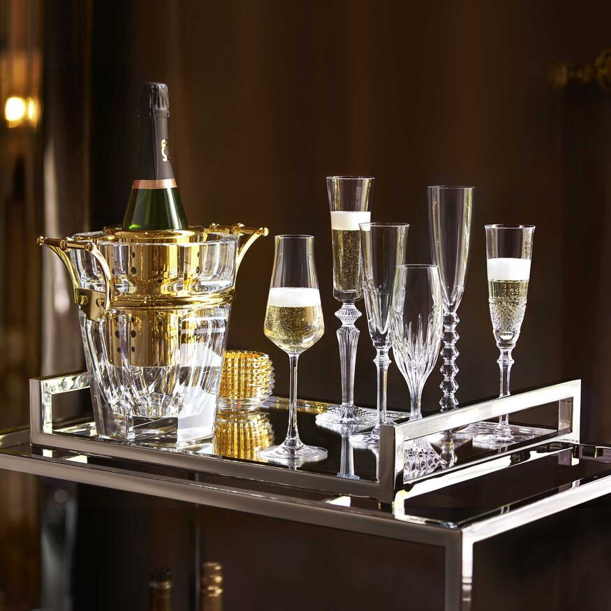 HARCOURT CHAMPAGNE COOLER  Clear & gold Image - 2