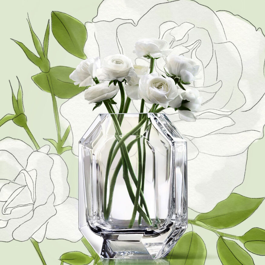 OCTOGONE VASE, Clear - 5