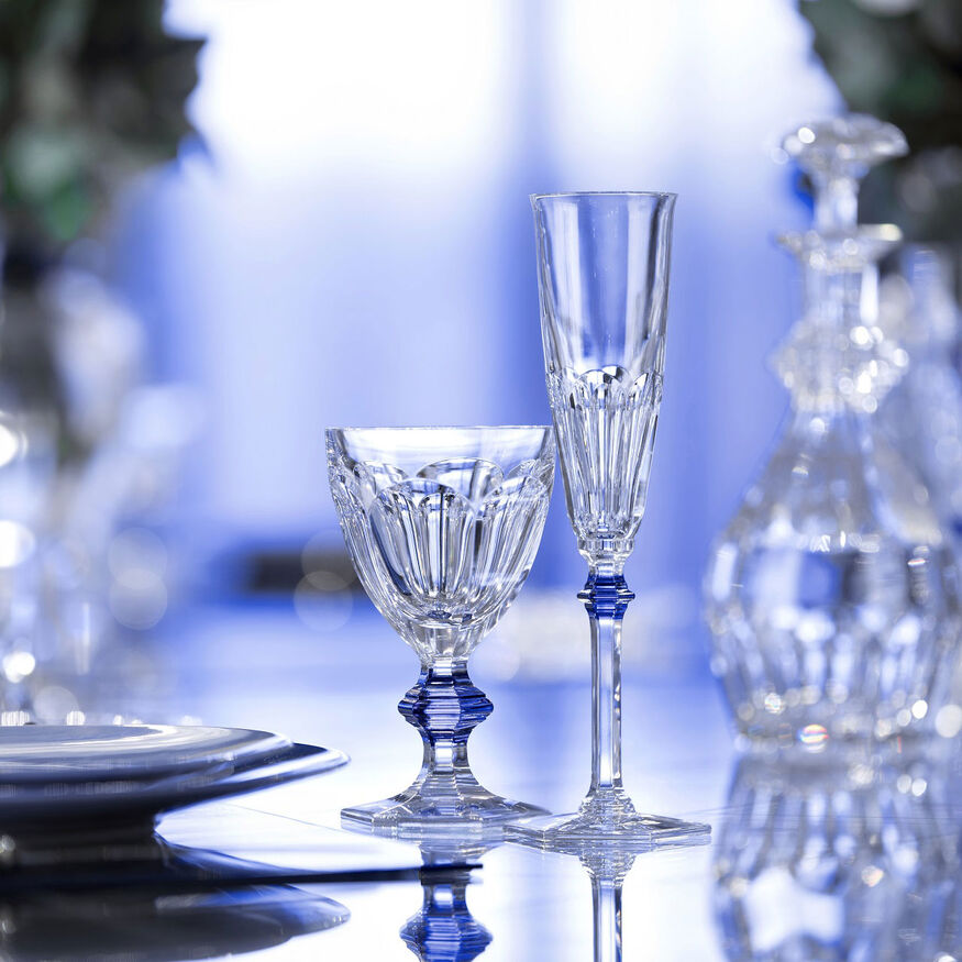 HARCOURT 1841 GLASS  Clear & blue - 5