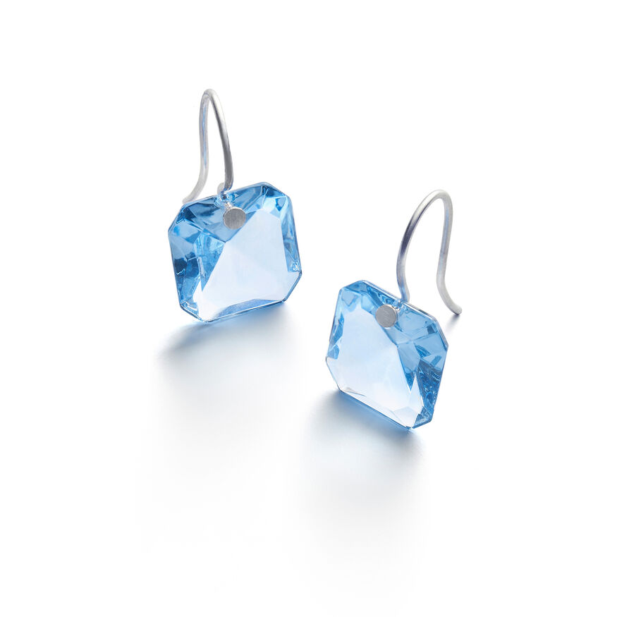BACCARAT PAR MARIE-HÉLÈNE DE TAILLAC EARRINGS, Light blue - 1